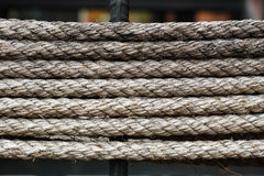 Rope Pattern. Pattern of the ropes winded around structure bars royalty free stock photo