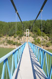 Rope Pedestrian Bridge On Kardzhali Dam, Bulgaria Stock Photos