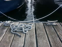 Rope on the pier Stock Photography