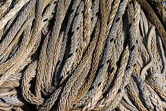 Rope on a pile Stock Photo