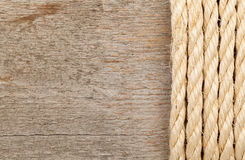Rope and plank Royalty Free Stock Photography