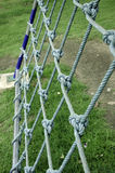 Rope in the playground. Nets with rope on the playground Stock Image