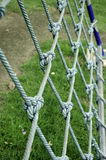 Rope in the playground. Nets with rope on the playground Royalty Free Stock Image