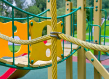 Rope on the playground Royalty Free Stock Photography