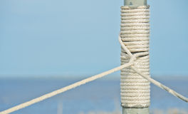 Rope on pole Royalty Free Stock Photo