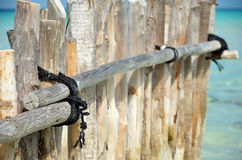 Rope on pole Royalty Free Stock Image