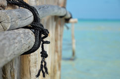 Rope on pole Royalty Free Stock Photos