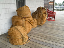 Rope on Porch Royalty Free Stock Images