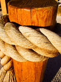 Rope on a Post Royalty Free Stock Images