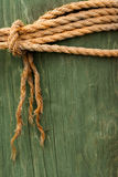 Rope on Post Stock Photo