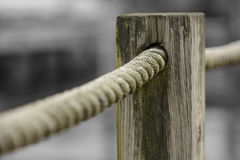 Rope & Post Royalty Free Stock Photos