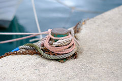 Rope on the prow Stock Images