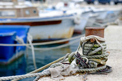 Rope on the prow Royalty Free Stock Images