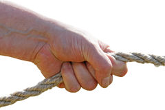 Rope pulling Stock Photography
