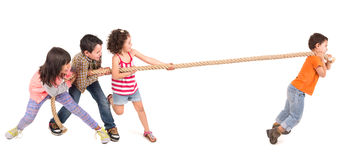 Rope pulling Royalty Free Stock Image