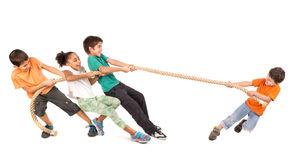 Rope pulling Stock Images