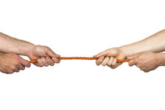 Rope pulling Royalty Free Stock Images