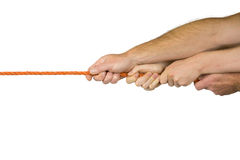 Rope pulling Stock Image
