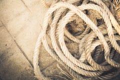 Rope qui est préparé image libre de droits