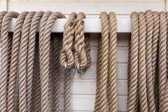 Rope on railing Stock Images