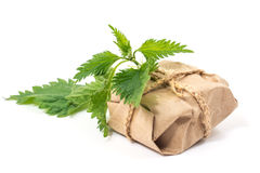 Rope recycled nettle package Stock Photography