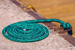 Rope role in a port Stock Images