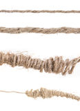 Rope roll and tangled on white background Royalty Free Stock Photos