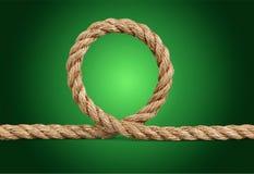 Rope. Yarn border twine closeup bundle string Royalty Free Stock Photo
