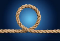Rope. Yarn border twine closeup bundle string Stock Photos