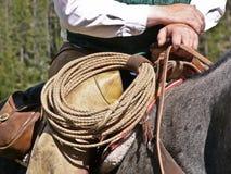 Rope on Saddle Royalty Free Stock Photography