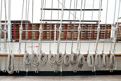 Rope on sailboat. Rope on an old sailboat Royalty Free Stock Photography