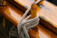 Rope on a sailing boat Royalty Free Stock Photography