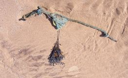 Rope on sand Royalty Free Stock Photo