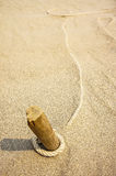 Rope on sand background Royalty Free Stock Photos