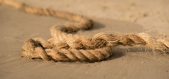 Rope on a sand Stock Photography
