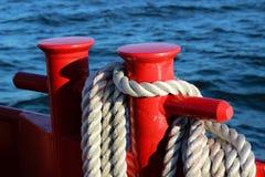 Rope at sea. Stock Image