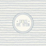 Rope Seamless Pattern. Seamless nautical vector pattern. Rope background in vintage style Royalty Free Stock Photography