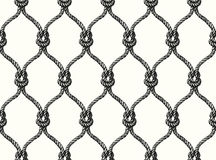 Rope seamless tied fishnet pattern. Vector Wallpaper Stock Photography