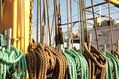 Rope on the ship Stock Image