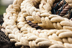 Rope on ship Royalty Free Stock Photos