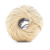 Rope skein, jute roll, braided ball isolated on white background royalty free stock photos