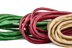 Rope in skeins, isolated on white background Royalty Free Stock Photo