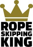 Rope Skipping King with crown. Vector Royalty Free Stock Images