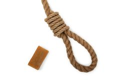 Rope and soap Stock Images