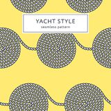 Rope spiral seamless pattern. Yacht style design. String textured background. Template for prints, wrapping paper, fabrics, covers, flyers, banners, posters Stock Images
