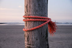 Rope on stake Royalty Free Stock Photo