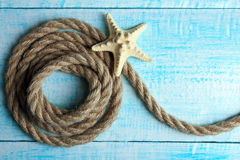 Rope with starfis Royalty Free Stock Images