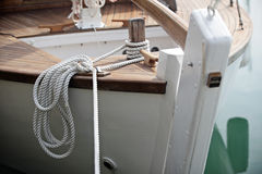 Rope on stern Royalty Free Stock Image