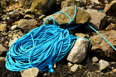 Rope between stones Stock Photo