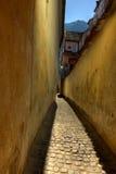 Rope street in Brasov Stock Images